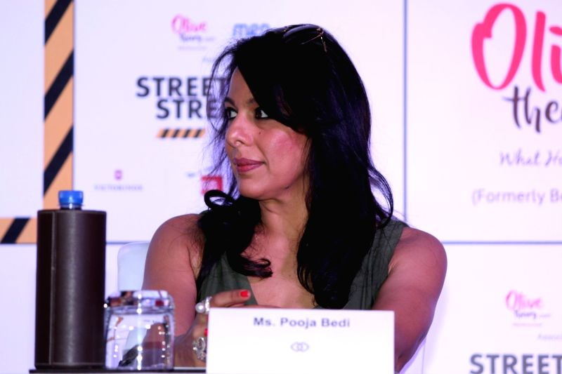 Actress Pooja Bedi during the press conference to announcement of campaign Street Smart - Street Safe in Mumbai, on Jan 11, 2017. - Pooja Bedi