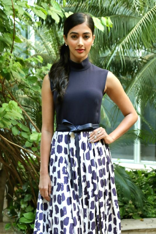 "Actress Pooja Hegde during a press conference regarding her upcoming film ""Mohenjo Daro"" in New Delhi, on Aug 4, 2016. - Pooja Hegde"