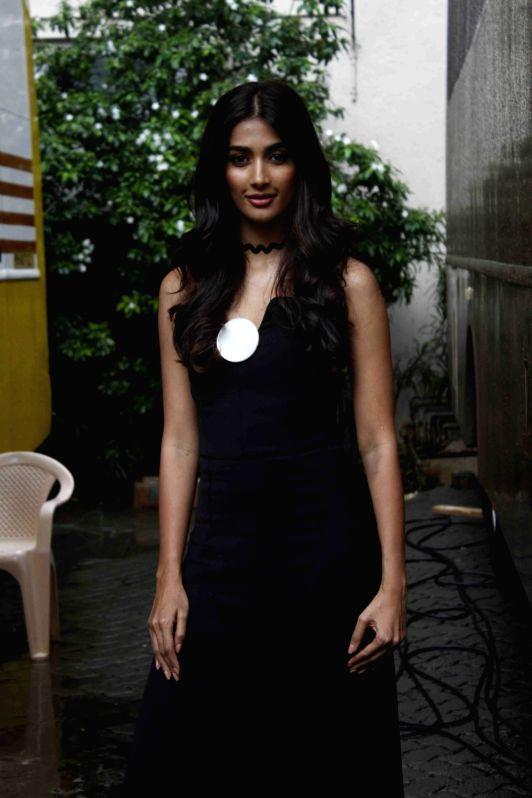 Actress Pooja Hegde spotted at Mehboob Studio, in Mumbai, on July 29, 2016. - Pooja Hegde