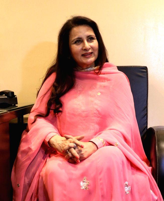 Actress Poonam Dhillon at BJP headquarters in New Delhi on May 16, 2017. - Poonam Dhillon