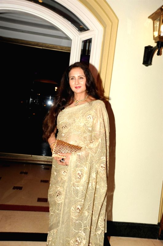 Actress Poonam Dhillon during the launch of ASSOCHAM coffee table book on media and entertainment in Mumbai on Nov 23, 2015. - Poonam Dhillon