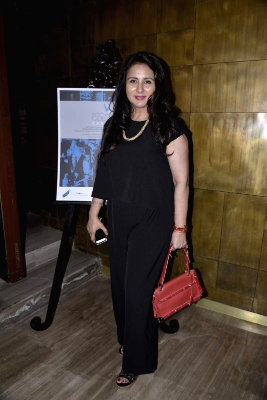 Actress Poonam Dhillon during the party of Couture Cabanas in association with Grey Goose, in Mumbai, on Nov 27, 2015. - Poonam Dhillon