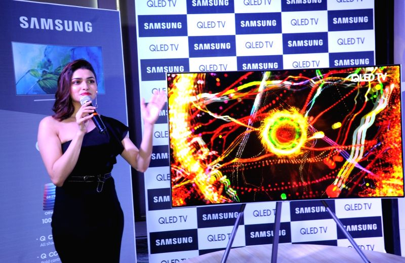 Actress Prachi Desai at the launch of Samsung QLED TV in Ahmedabad on May 30, 2017. - Prachi Desai