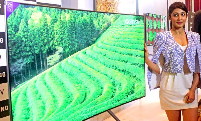 Actress Pranitha Subhash at the launch of Samsung QLED TV in Bengaluru on May 24, 2017. - Pranitha Subhash