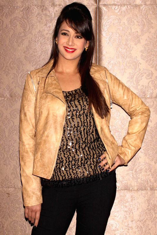 Actress Preeti Jhangiani at the press conference of film `` Kaash Tum Hote`` in Noida on Dec 2, 2014. - Preeti Jhangiani