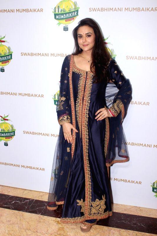 Actress Preity Zinta during the Mumbaikar Festival 2016, in Mumbai, on June 3, 2016. - Preity Zinta