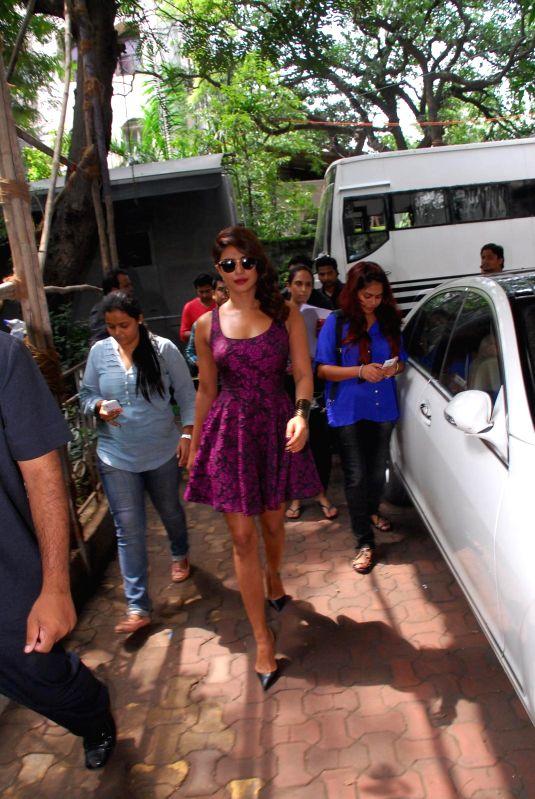 Actress Priyanka Chopra during the promotion of film Mary Kom on India`s Best Cine Stars Ki Khoj sets in Mumbai on 25th August 2014