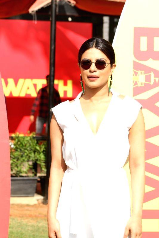 """Actress Priyanka Chopra during the promotional interview of upcoming film """"Baywatch"""" in Mumbai on April 26, 2017. - Priyanka Chopra"""