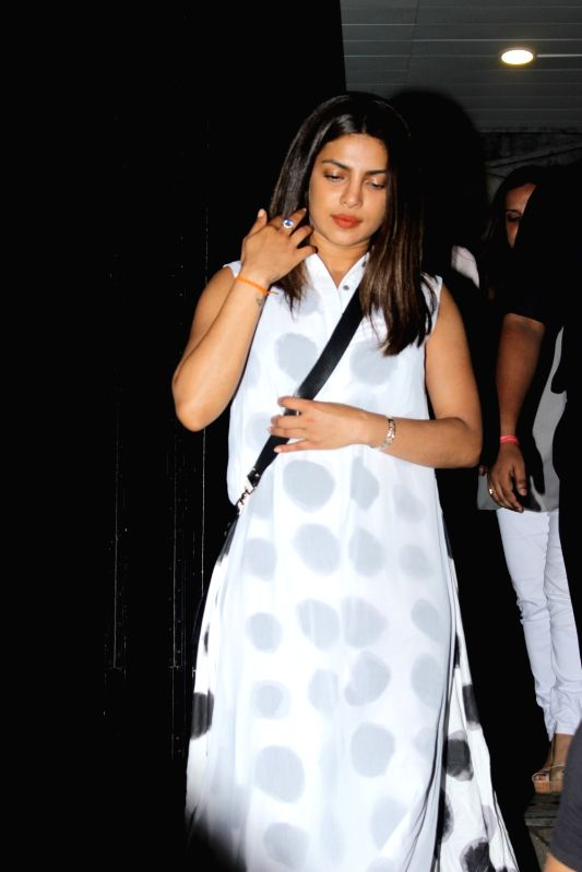 Actress Priyanka Chopra were hakkasan restaurant at the Bandra on June 10, 2017. - Priyanka Chopra