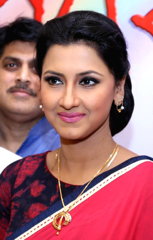 Actress Rachana Banerjee during launch of specially designed gold jewellery collections in Kolkata on May 17, 2014.