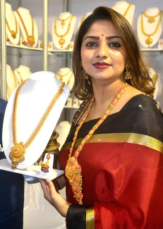 Actress Rachita Ram at the inauguration of Jewelry Mela in Bengaluru on Oct 6, 2017. - Rachita Ram
