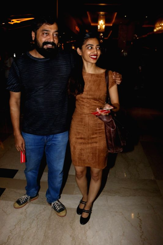 "Actress Radhika Apte and filmmaker Anurag Kashyap during the special screening of Fr​e​nch film ""Felicite"" in Mumbai on April 26, 2017.​ ""Felicite"" stars Véro ... - Radhika Apte and Anurag Kashyap"