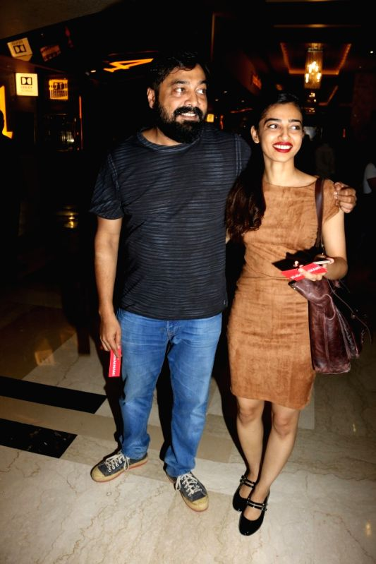 "Actress Radhika Apte and filmmaker Anurag Kashyap during the special screening of Fr​e​nch film ""Felicite"" in Mumbai on April 26, 2017. ​Directed by Alain Gomis, ... - Radhika Apte and Anurag Kashyap"