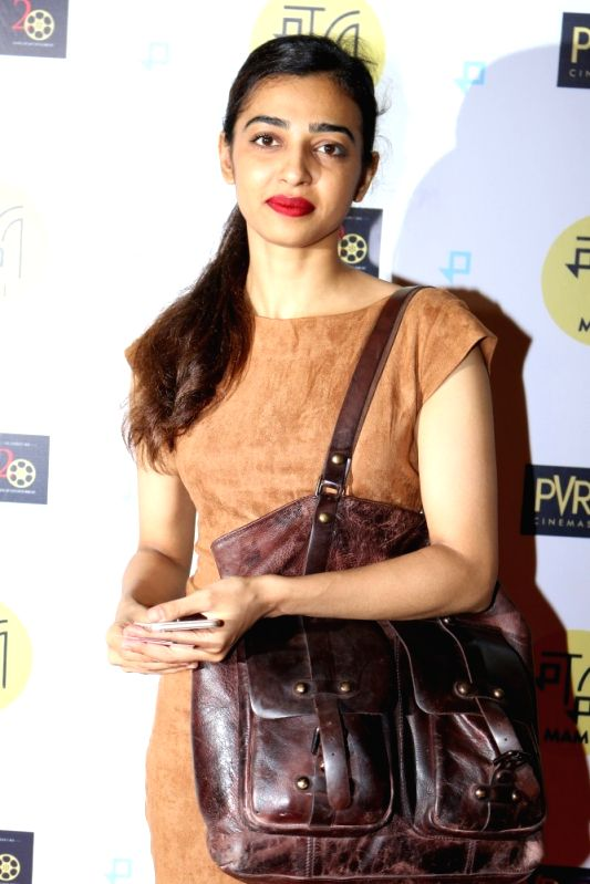 "Actress Radhika Apte during the special screening of Fr​e​nch film ""Felicite"" in Mumbai on April 26, 2017.​ Directed by Alain Gomis, ""Felicite"" won Jury Grand Prix ... - Radhika Apte"