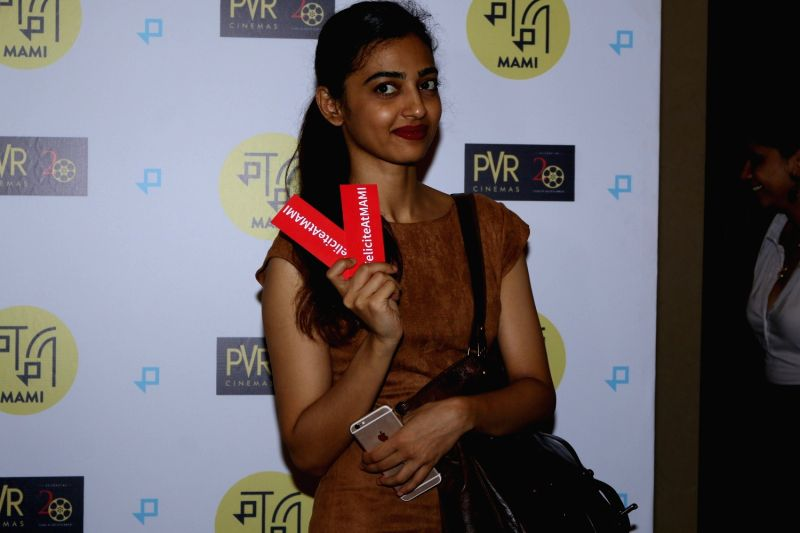 "Actress Radhika Apte during the special screening of Fr​e​nch film ""Felicite"" in Mumbai on April 26, 2017.​ ""Felicite"" stars Véro Tshanda Beya Mputu and has been ... - Radhika Apte"