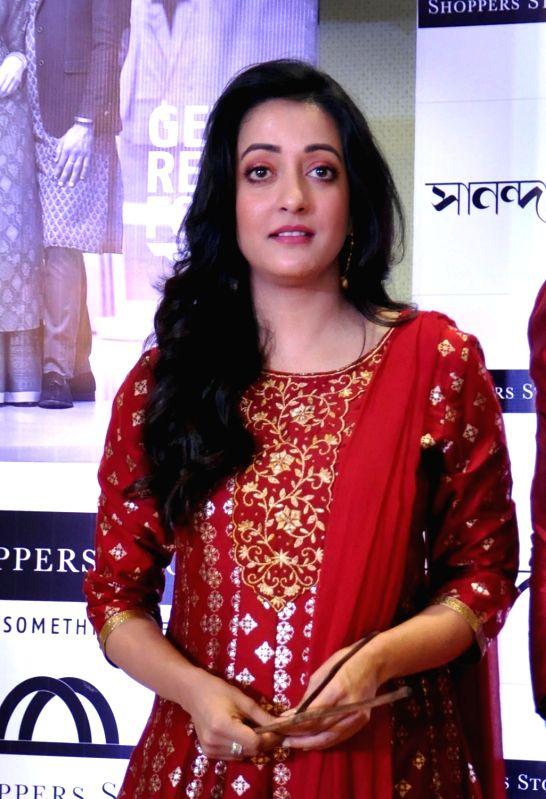 Actress Raima Sena during a promotional programme in Kolkata on Sept 14, 2018. - Raima Sena
