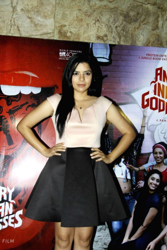 Actress Rajshri Deshpande during the screening of film Angry Indian Goddesses in Mumbai  Nov  30, 2015 - Rajshri Deshpande