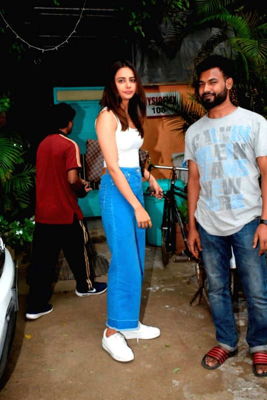 Actress Rakul Preet Singh seen at Mumbai's Versova on Aug 7, 2018. - Rakul Preet Singh