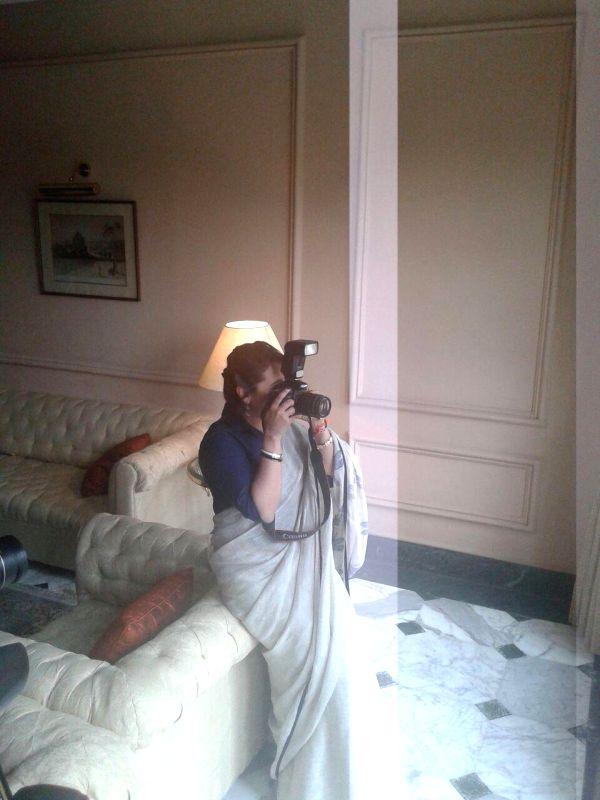 Actress Rani Mukerji celebrates World Photographers` Day.