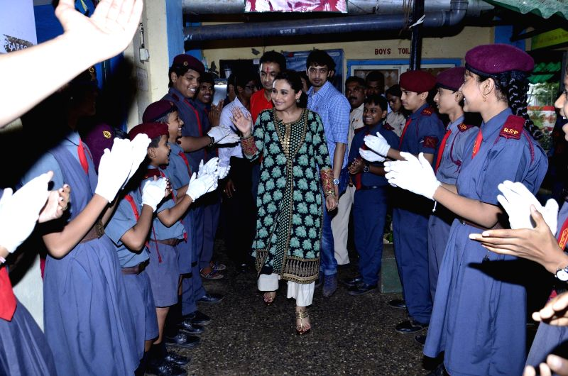 Actress Rani Mukerji during Support My School Campaign in Mumbai on August 6, 2014.