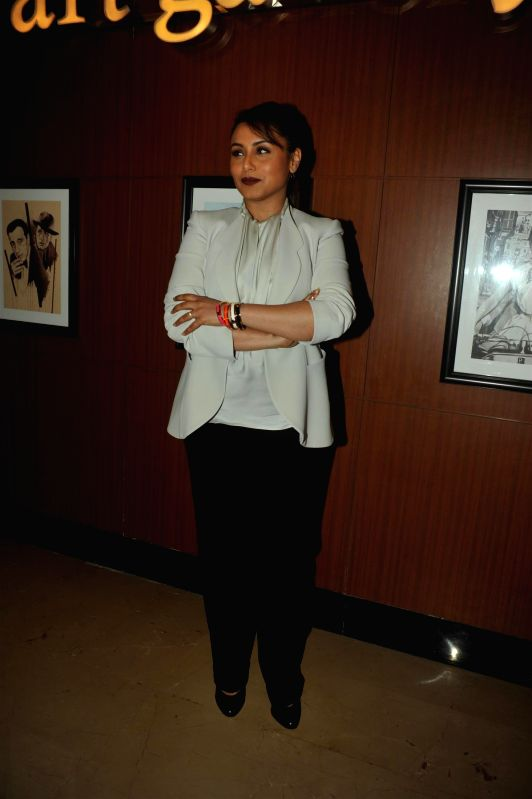 Actress Rani Mukerji during the song launch of film `Mardaani` in Mumbai on Aug 4, 2014. - Rani Mukerji