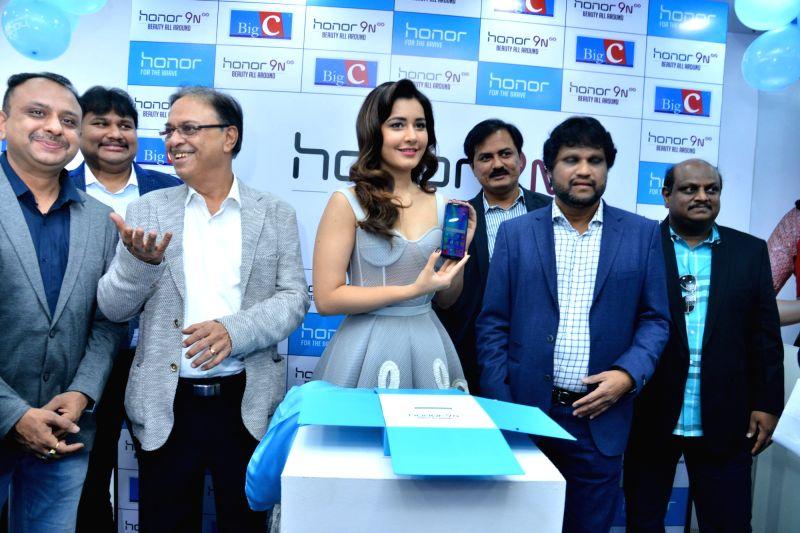 "Actress Rashi Khanna at the launch of ""Honor 9N"" smartphone in Hyderabad. - Rashi Khanna"