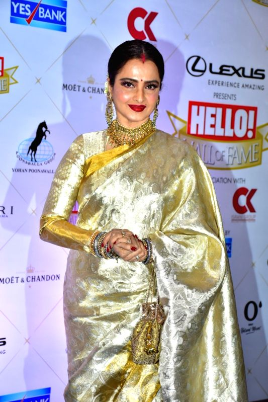 Image result for hello hall of fame awards 2018 Rekha image