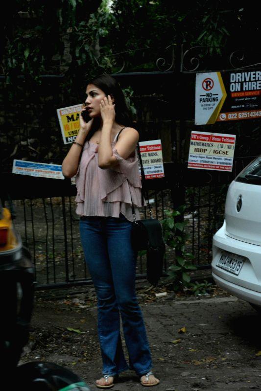 Actress Rhea Chakraborty Aaryan seen at Mumbai's Bandra on July 26, 2018. - Rhea Chakraborty Aaryan