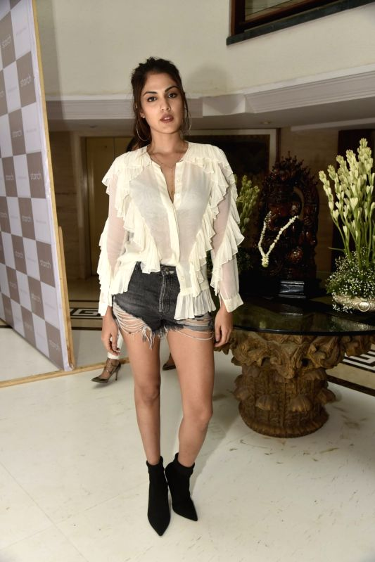 Actress Rhea Chakraborty at a clothing store launch in Mumbai on Aug 9, 2018. - Rhea Chakraborty