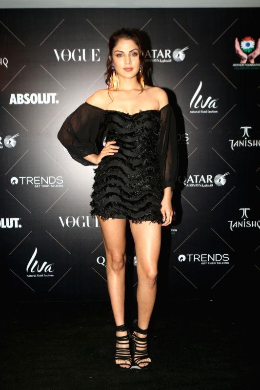 "Actress Rhea Chakraborty at the red carpet of ""Vogue Beauty Awards"" in Mumbai on July 31, 2018. - Rhea Chakraborty"