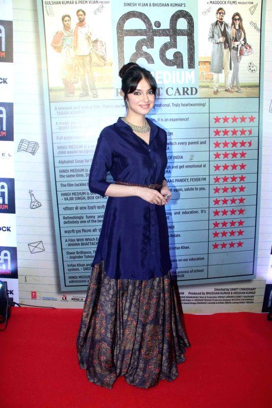 Actress Rhea Chakraborty during the success party of film Hindi Medium in Mumbai, on May 28, 2017. - Rhea Chakraborty