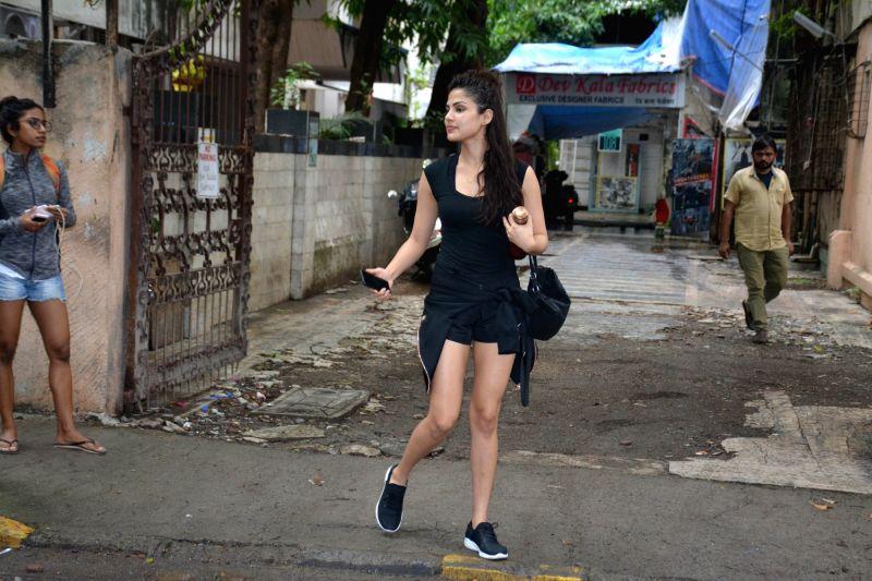 Actress Rhea Chakraborty seen at Mumbai's Bandra on Aug 3, 2018. - Rhea Chakraborty