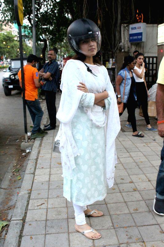 Actress Rhea Chakraborty seen in Mumbai's Bandra on June 14, 2018. - Rhea Chakraborty