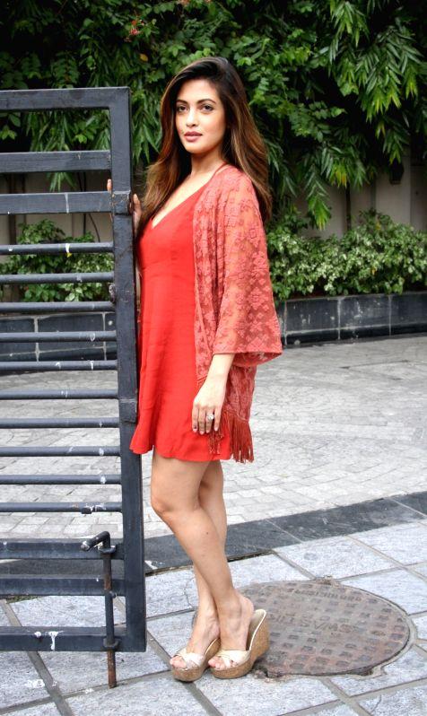 """Actress Ria Sen during a press conference regarding her upcoming film """"Senapati'"""" in Kolkata, on May 6, 2016. - Ria Sen"""