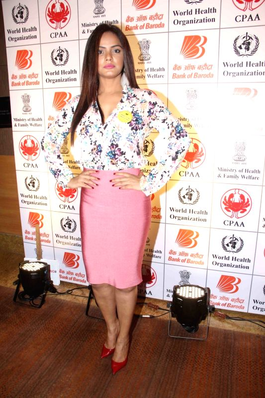 Actress Rich Chadda during the press conference organised on the eve of World Tobacco Day to support the No To Tobacco and Yes To Life campaign in Mumbai, on May 30, 2017. - Rich Chadda
