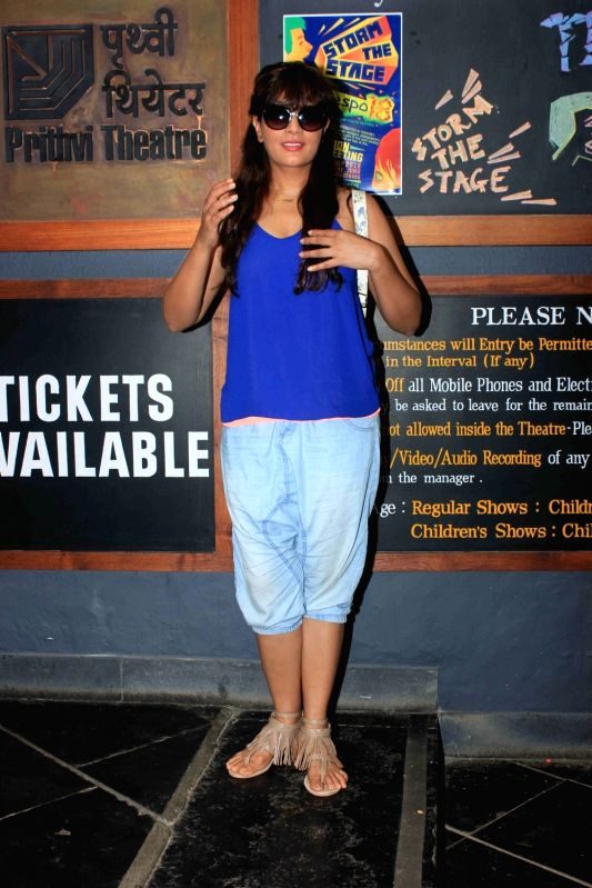Actress Richa Chadda arrives to attend the Thespo, annual youth theatre festival at Prithvi Theatre, in Mumbai on July 18, 2016. - Richa Chadda