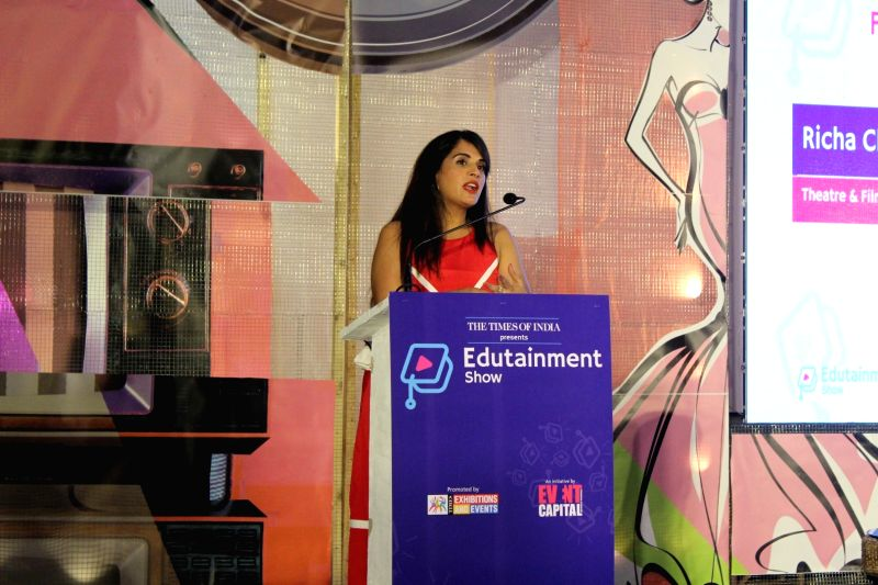 Actress Richa Chadda during 5th edition of The Edutainment Show 2017 in Mumbai on May 20, 2017. - Richa Chadda