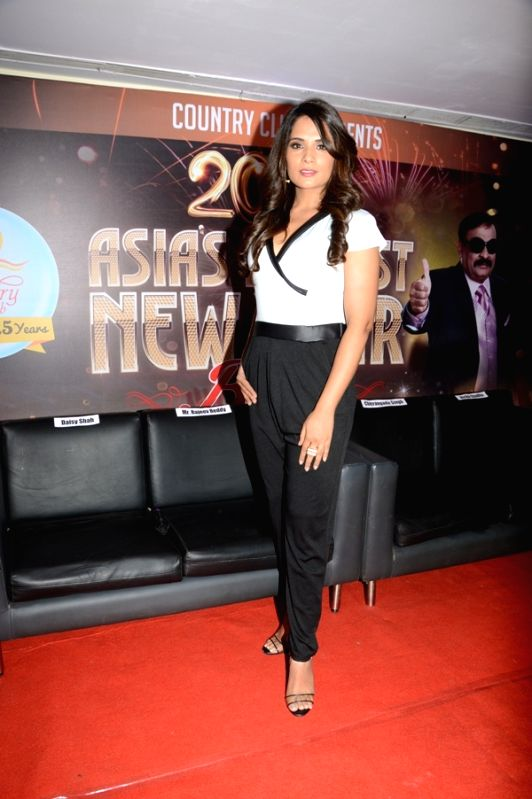 Actress Richa Chadda during the announcement of Country Club's New Year celebrations in Mumbai on Oct 28, 2015. - Richa Chadda