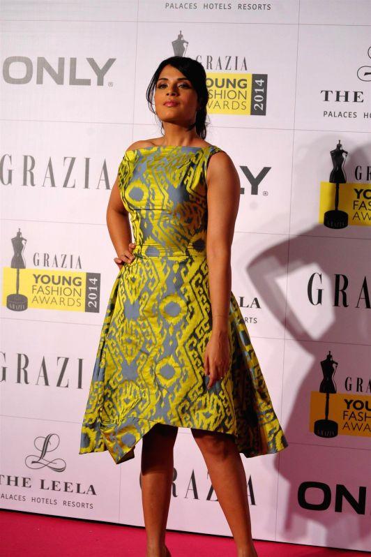 Actress Richa Chadda during the Grazia Young Fashion Awards in Mumbai on 13th April 2014. - Richa Chadda