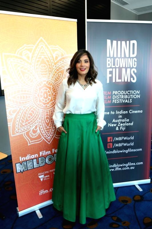 Actress Richa Chadha at the Indian Film Festival of Melbourne (IFFM) in Melbourne on Aug 10, 2018. - Richa Chadha