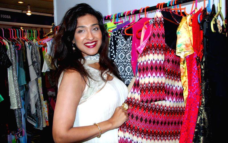 Actress Rituparna Sengupta at an art, fashion and lifestyle exhibition in Kolkata on Aug 29, 2014.