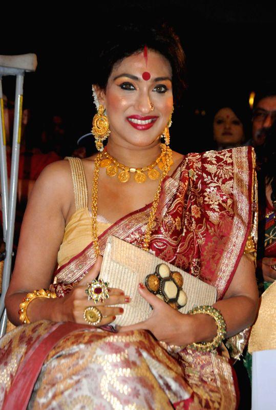 Actress Rituparna Sengupta during a programme in Kolkata on August 1, 2014.