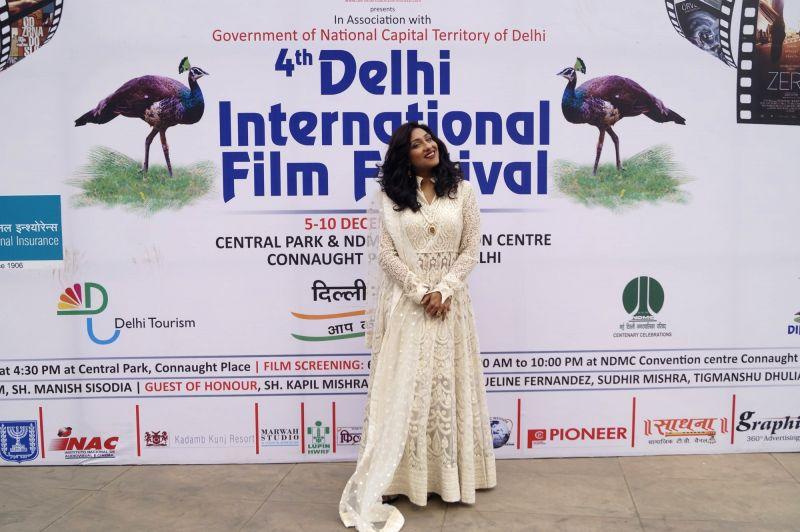 Actress Rituparna Sengupta during the 4th edition of Delhi International Film Festival in New Delhi, on Dec 10, 2015. - Rituparna Sengupta