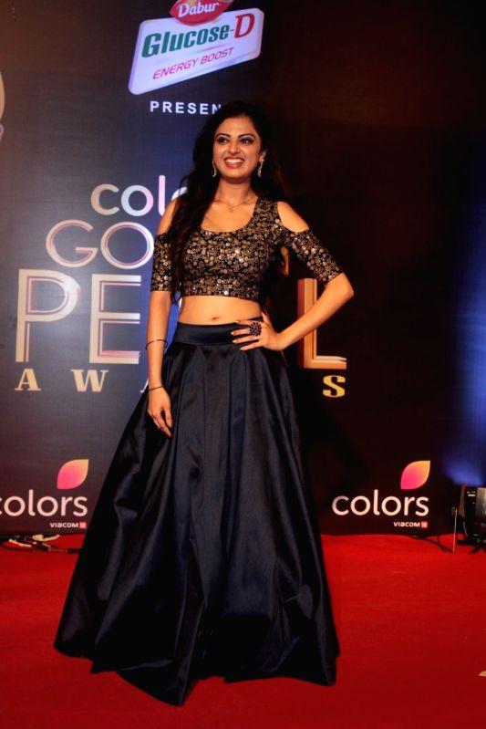 Actress Roshni Sahota during the 5th Colors Golden Petal Awards in Mumbai on April 12, 2017. - Roshni Sahota