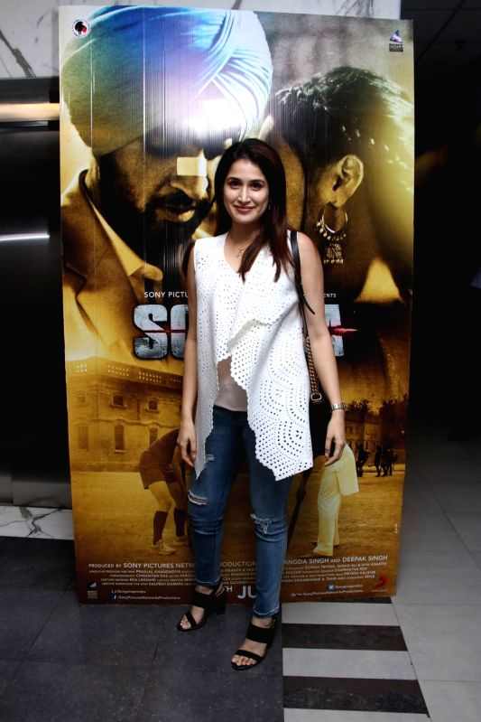"Actress Sagarika Ghatge at the special screening of upcoming film ""Soorma"" in Mumbai on July 11, 2018. - Sagarika Ghatge"