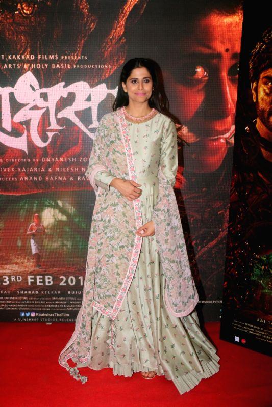"Actress Sai Tamhankar at the trailer launch of their upcoming film ""Raakshas"" in Mumbai on Feb 1, 2018. - Sai Tamhankar"