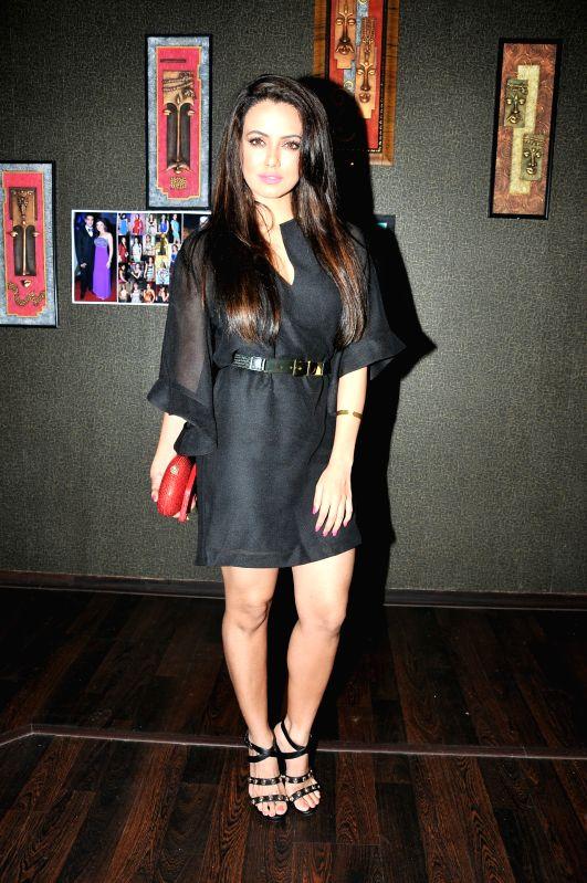Actress Sana Khan during  Deepshikha Nagpal`s birthday party in Mumbai, on Aug 19, 2015. - Sana Khan