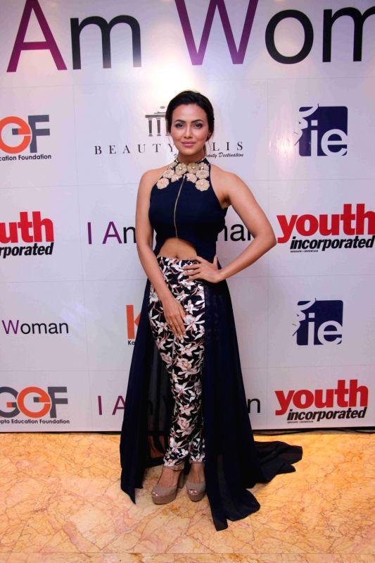 Actress Sana Khan during I am Woman event, in Mumbai on April 5, 2016. - Sana Khan