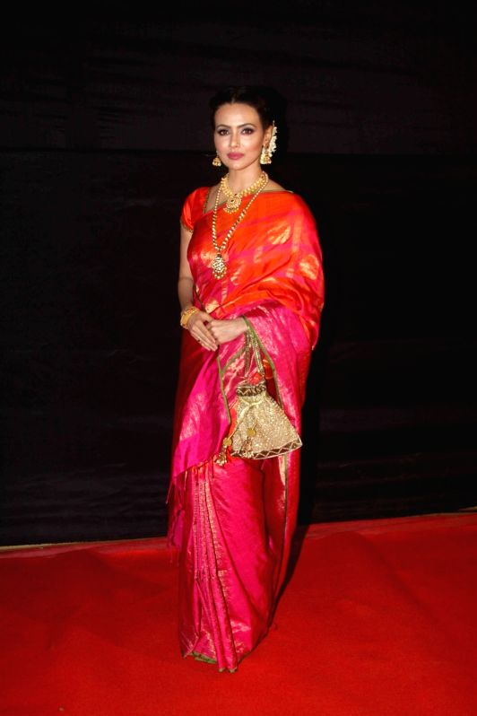 Actress Sana Khan during the Dada Saheb Film Foundation Awards 2017 in Mumbai on May 7, 2017. - Sana Khan