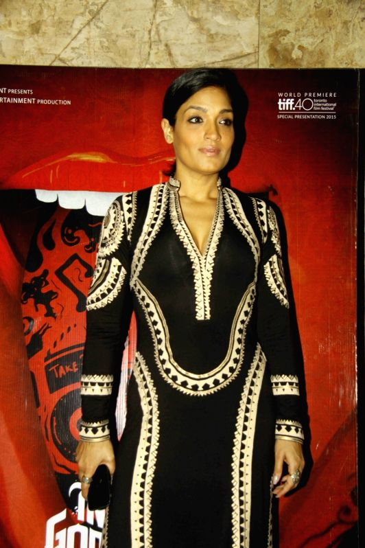 Actress Sandhya Mridul during the screening of film Angry Indian Goddesses in Mumbai  Nov  30, 2015 - Sandhya Mridul
